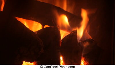 FireBurning flame in a fireplace