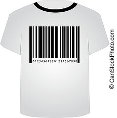 T Shirt Template- Sale bar code