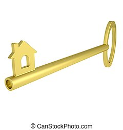 Key with home icon