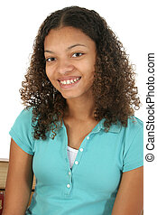 Beautiful Teen Girl Smiling - Beautiful smiling African...