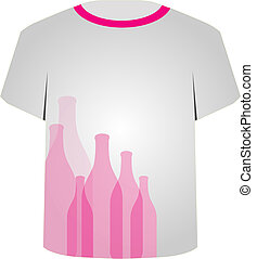T Shirt Template- bottles