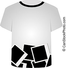 T Shirt Template-Polaroid collage