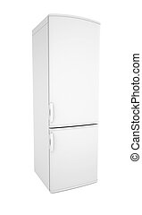 White refrigerator Isolated render on a white background