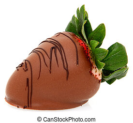 Large Strawberry Dipped in Chocolate - Gourmet style dipped...