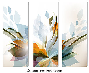 Set of vector abstract colorful backgrounds for design -...