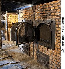 Auschwitz, concentração, acampamento, -,...