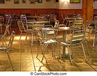 interior restaurant - an interior view of empty causual...