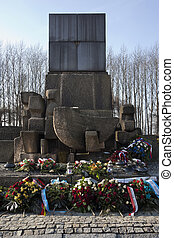 Auschwitz Concentration Camp - Poland - Memorial at...