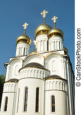 Orthodox temple in Pereslavl. Symbol of hope and purity.