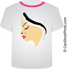 T Shirt Template- Pretty face