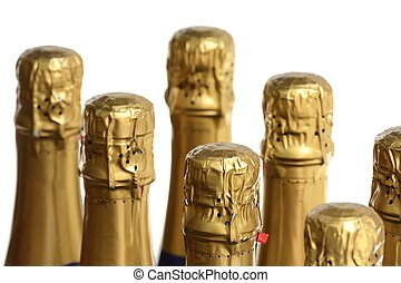 Bottle Necks - Buttle necks of sparkling wine or champagne