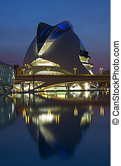 Valencia - Spain - The futuristic architecture of the Ciutat...