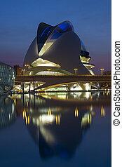 Valencia - Spain - The futuristic architecture of the Ciutat...