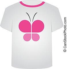 T Shirt Template- Butterfly
