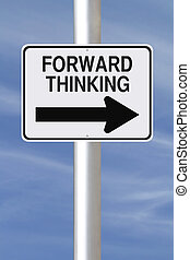Forward Thinking - A modified one way street sign on Forward...