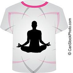 T Shirt Template-Meditation