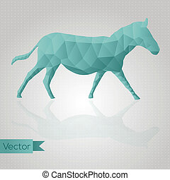 Abstract triangular animal isolated on background Seamless...