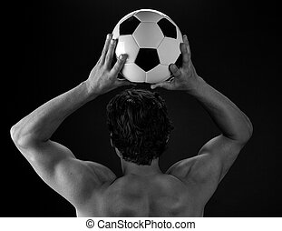 Soccer Player Throwing in Ball