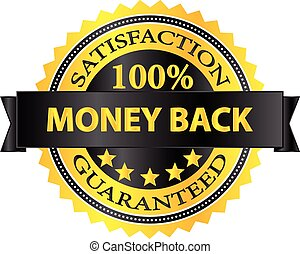 Money Back Badge - Money Back Satisfaction Guaranteed Badge...
