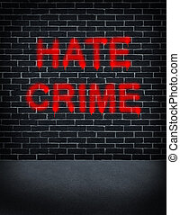 Hate Crime - Hate crime social problem concept with a dark...
