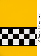 Cab detail - Detail of a yellow cab