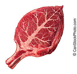 Organic Meat - Organic meat and natural food as a raw steak...
