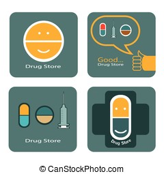 Drug store icon of design