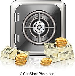 Safe Icon With Money