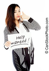 Attractive asian girl 20 years old shot in studio -...