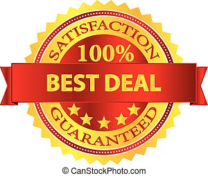 Best Deal Stamp - Best Deal Satisfaction Guaranteed Badge...