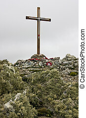Memorial to HMS Coventry - Falkland Islands - Memorial to...