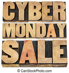 Cyber Monday sale - online shopping and marketing concept -...