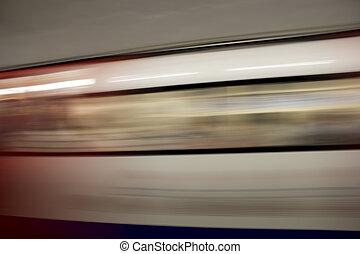 London underground train abstract