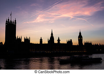 Westminster Sunset in London