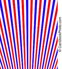 Red White Blue Perspective Stripes - Red white and blue...