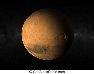 planet Mars - 3d rendering of the planet mars