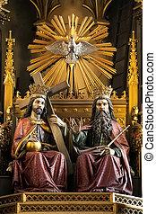 Dominican Church - Krakow - Poland - The main altar in the...