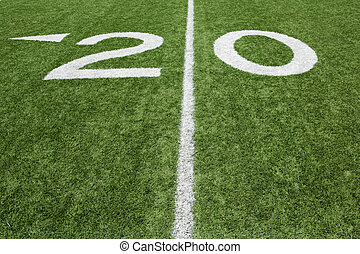 American Football Twenty Yard Line