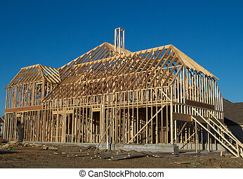 New House under Construction - New House Construction Frame...