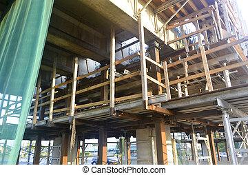 Bridge re-construction 4. - A closeup look at the...