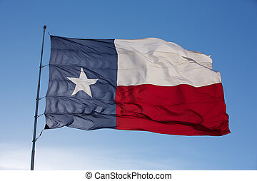 Backlit Flag of the State of Texas