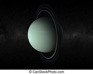 planet uranus - 3d rendering of the planet uranus