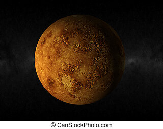 Planet venus - 3d rendering of the planet venus
