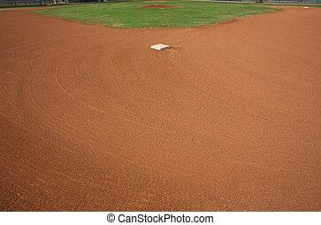 beisball, campo, segundo, base