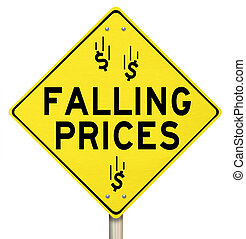 Falling Prices Reduced Slashing Costs Special Sale Discount...