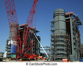 construction site - construction of new power plant