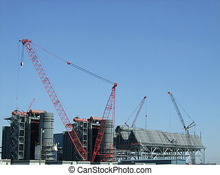 cranes - construction of new power plant