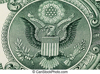 Great Seal of the United States on the reverse of a US...