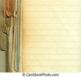 Old grunge paper with lines - Old grunge paper with empty...