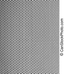 Graphic design detail of a steel mesh